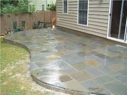 Flagstone Patio Cost Per Square Foot by Flagstone Patio Concrete Patio Mommyessence Com