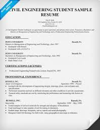 ideas of sample resume for civil engineering student with job
