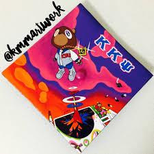 graduation photo album kanye west graduation album cover graduation cap painted