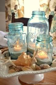 Seashell Centerpiece Ideas by Decorations Table Centerpiece With Sand And Shells Crafts Decor