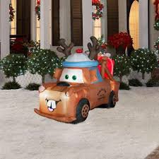 amazon com christmas decoration lawn yard inflatable lighted cars