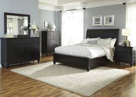 Room Place Bedroom Sets Furniture Hamilton Iii 4 Piece Storage Bedroom Set In Black