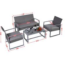Small Patio Furniture Sets - amazon com giantex 4pc patio furniture set cushioned outdoor