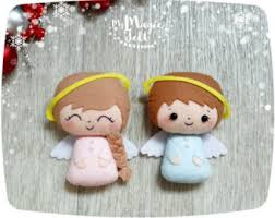New Year Christmas Tree Decorations by Christmas Ornaments Felt Set Of 24 Ornament By Mymagicfelt On Etsy