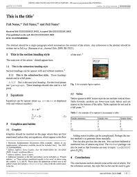 latex templates academic journals