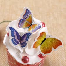 aliexpress com buy big mixed butterfly cake topper wafer paper