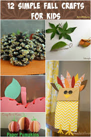 Simple Fall Crafts For Kids - 12 simple fall crafts for kids real and quirky