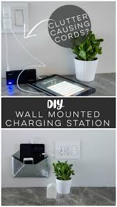 best images about cleaning and organizing pinterest diy wall mounted charging station love that this doesn clutter any organizationorganizing