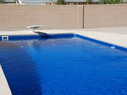 fiberglass swimming pool paint color finish azure 6 calm water pools
