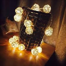 rattan ball fairy lights 5cm white rattan ball string fairy lights for garden patio wedding