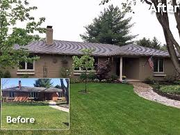 ranch style transforming a 70s brick house into an updated ranch style home