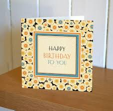 art deco floral happy birthday to you card karenza paperie