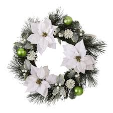 white poinsettia white poinsettia wreath christmas tree shops andthat