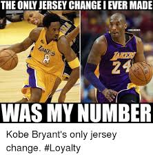 Kobe Bryant Injury Meme - the only jersey change i ever made lake 2 was my number kobe