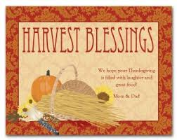 blessing card printable harvest blessing card template