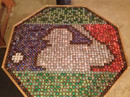 beer cap table top bottle cap table poker table bottle cap boozy crafts pinterest