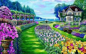 Beautiful Garden Pictures Beautiful Garden Mansion Lake Wallpapers Beautiful Garden