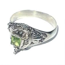 emerald silver rings images Sterling silver bali emerald cut peridot poison ring jpg
