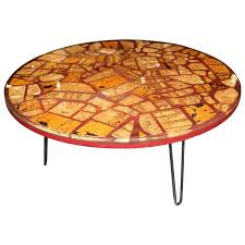 Hairpin Legs Los Angeles by Resin Epoxy Table With Pretty Cork Pieces On Hairpin Legs For Sale
