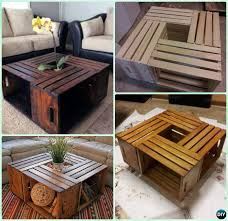 Free Wood Plans Coffee Table by Diy Wood Crate Coffee Table Free Plans Instructions Wood