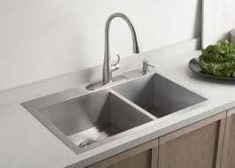 Kohler KNA Double Basin Kitchen Sink With OneHole Faucet - Kohler double kitchen sink