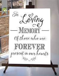 in loving memory wedding in loving memory wedding sign memorial table 8x10 and
