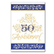 best wishes on your 50th anniversary general anniversary card