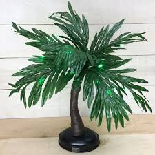 pre lit green led palm tree battery operated