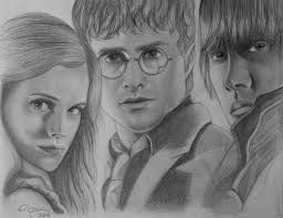 the golden trio harry potter by kayrissy on deviantart