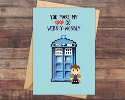 dr who anniversary card geeky love cards greeting card pun