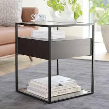 dark wood side table drift side table darkwood dwell