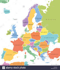 europe map by country europe single states political map all countries in different