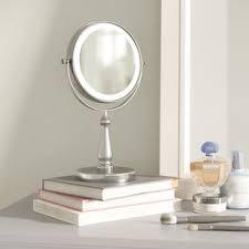 assis led lighted makeup mirror makeup shaving mirrors you ll love wayfair