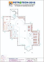 floor plan hall layout petrotech 2016