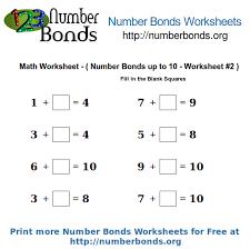 number bonds math worksheet up to 10 worksheet 2 number bonds org