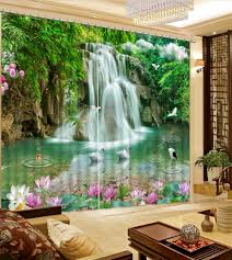 online get cheap fairy rooms aliexpress com alibaba group farmhouse style 3d curtains fairy waterfall scenery 3d curtain for bedroom cortina blackout modern living room