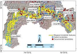 Map Of Indus River Historic Landslide Dams Along The Upper Indus River Northern
