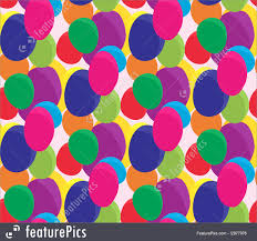 balloons that float abstract patterns seamless flying balloons stock illustration