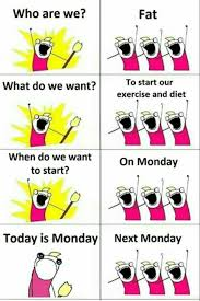 Monday Meme Funny - exercise and diet next monday funny meme funny memes