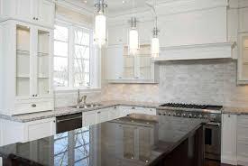 backsplashes for white kitchen cabinets backsplash white cabinets gray countertop sofa cope