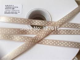 cheap ribbons printed single dots satin ribbon 9mm pantone 13 0607tpx satin