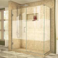 34 Shower Door Dreamline Shen 24580340 Hfr 04 Unidoor Plus 58 X 34 Shower