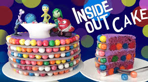 How To Decorate Birthday Cake Inside Out Cake How To Cook That Ann Reardon Disney Pixar Movie