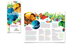 tri fold school brochure template school brochure template free youth program tri fold