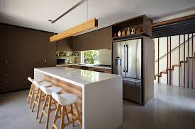 Contemporary Island Lighting Upholstered Bar Stools Kitchen Contemporary With Brown Kitchen