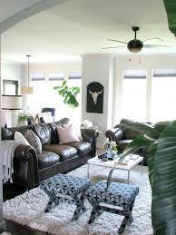 Dark Sofa Living Room Designs by Life Love Larson Home Tour