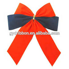 christmas ribbons and bows and blue velvet butterfly ribbon bow ties for christmas tree