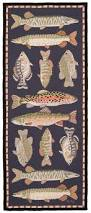 Claire Murray Washable Rugs by Freshwater Fish 6 U0027 Hand Hooked Runner Claire Murray