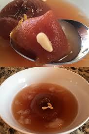 korean food photo maangchi s persimmon punch maangchi com dessert punch with persimmon cinnamon and ginger sujeonggwa