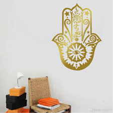 Chandelier Wall Stickers Diy Removable Lndian Yoga Lucky Hand Of Fatima Wall Stickers Vinyl